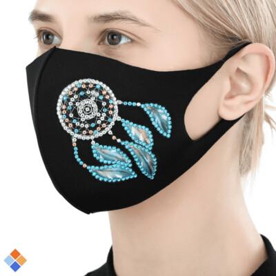 Face Mask - Dreamcatcher - DIY Diamond Painting