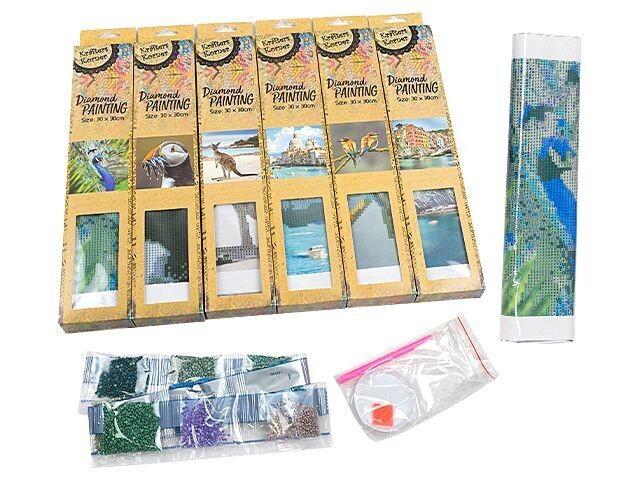 Krafters Korner Diamond Painting Kits - Partial Drill - 30 x 30cm - Set of  6