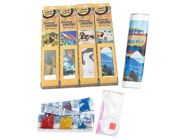 Krafters Korner Diamond Painting Kits - Partial Drill - 30 x 40cm - Set of  4