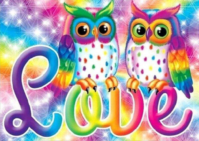 Love Owls - 40 x 50cm Full Drill (Round), Diamond Painting Kit - Currently in stock