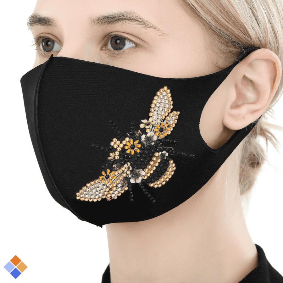 Face Mask - Bee - DIY Diamond Painting - PRE-ORDER (delivery 4 - 6 weeks)