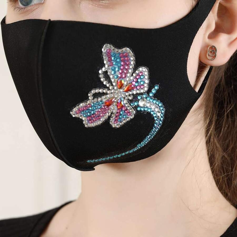 Face Mask - Butterfly - DIY Diamond Painting - PRE-ORDER (delivery 4 - 6 weeks)