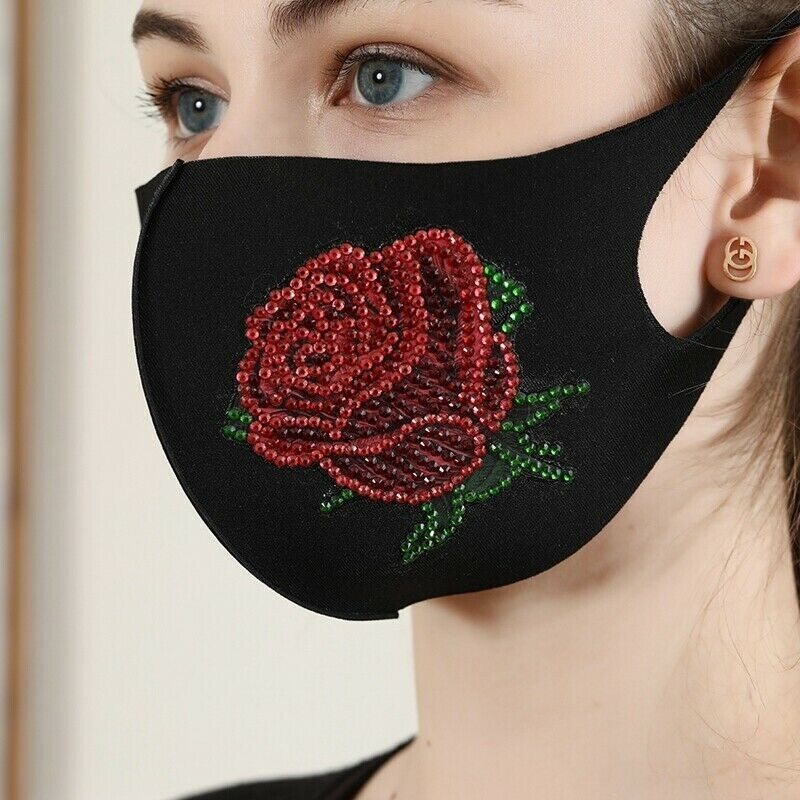 Face Mask - Rose - DIY Diamond Painting - PRE-ORDER (delivery 4 - 6 weeks)