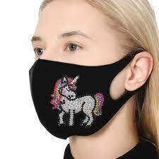 Face Mask - Unicorn - DIY Diamond Painting - PRE-ORDER (delivery 4 - 6 weeks)