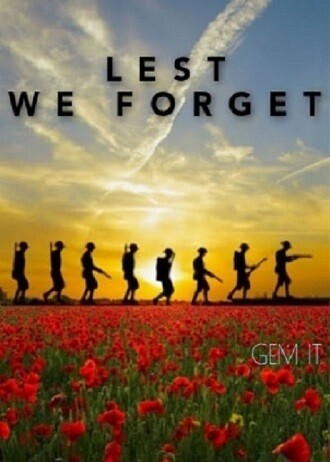 LEST WE FORGET by Jess (exclusive to Gem It) - Full Drill Diamond Painting - Specially ordered for you. Delivery is approximately 4 - 6 weeks.