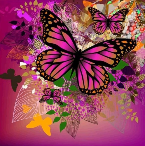 Butterflies 10 - 40 x 40cm Full Drill (Square), Diamond Painting Kit - Currently in stock