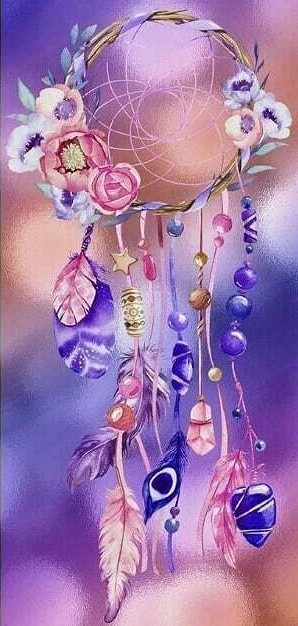 Dream Catcher - 30 x 70cm - Full Drill (Round), Diamond Painting Kit - Currently in stock