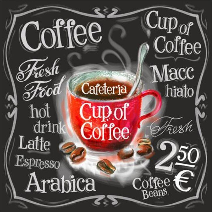 Coffee - 50 x 50cm Full Drill (Square), Diamond Painting Kit - Currently in stock