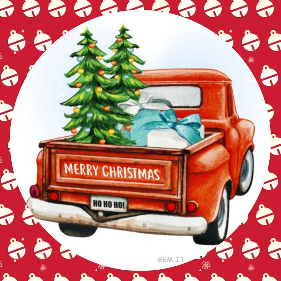 Old Ute Christmas by Jess (exclusive to Gem It) - Full Drill Diamond Painting - Specially ordered for you. Delivery is approximately 4 - 6 weeks.