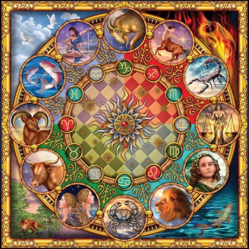 Zodiac - 50 x 50cm Full Drill (Square), Diamond Painting Kit - Currently in stock