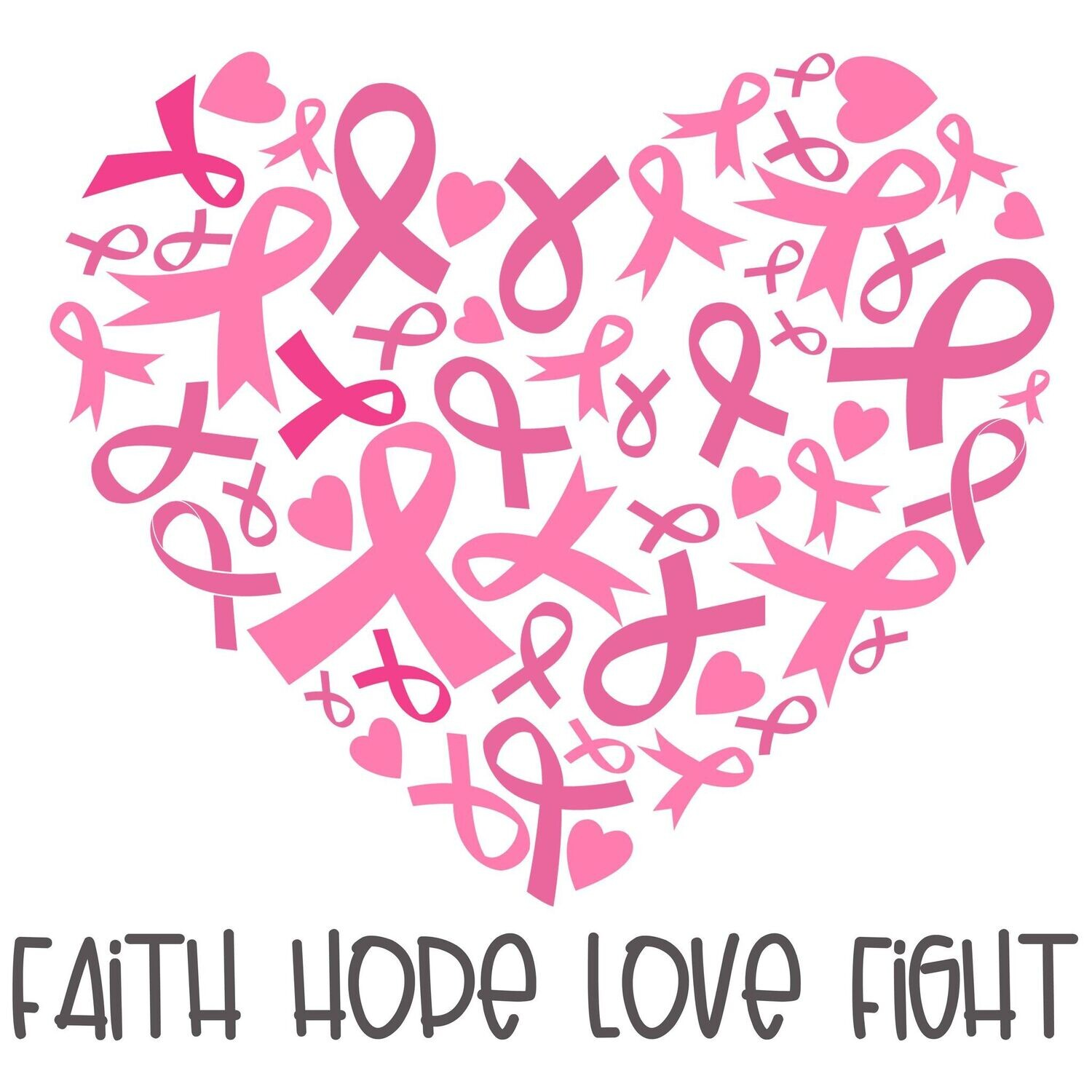 FAITH HOPE LOVE FIGHT by Amanda (exclusive to Gem It) - 40 x 40cm Full Drill (Square), Diamond Painting Kit - Currently in stock