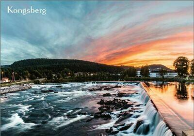 A6 Postkort - Numedalslågen Solnedgang