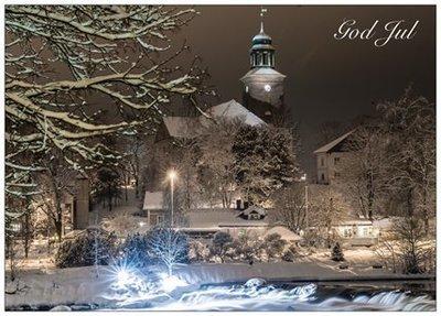 A6 Postkort - Kongsberg kirke - Julekort