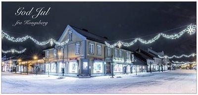 Panorama Postkort - Julepyntet sentrumsgate - Julekort