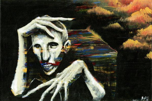 Phantom (at Sunset) 18x24 Original Painting on Canvas