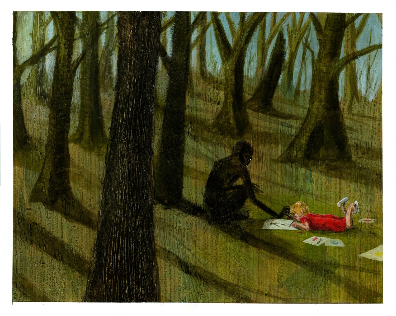 Elena Will Be An Artist 16x20 Original Painting on Illustration Board