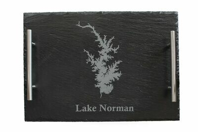 Body of Water w/Location Name Slate Serving Tray