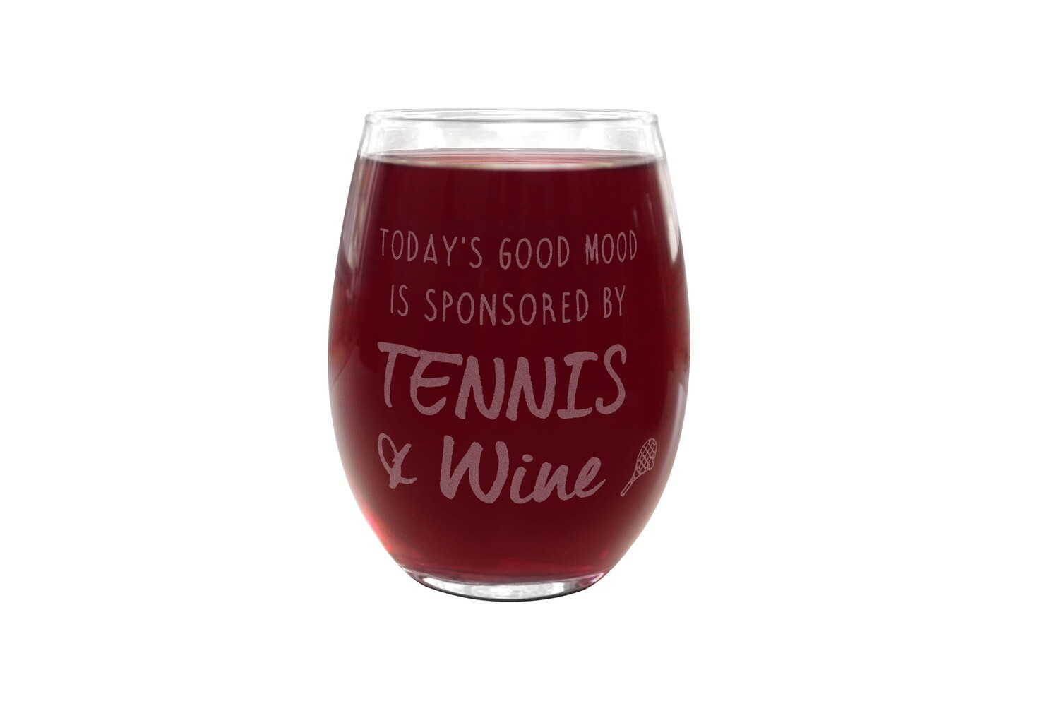 Personalized Saying on PLASTIC Stemless Wine Glass