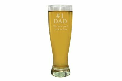 Father's Day Engraved Pilsner Beer Glass 16 oz