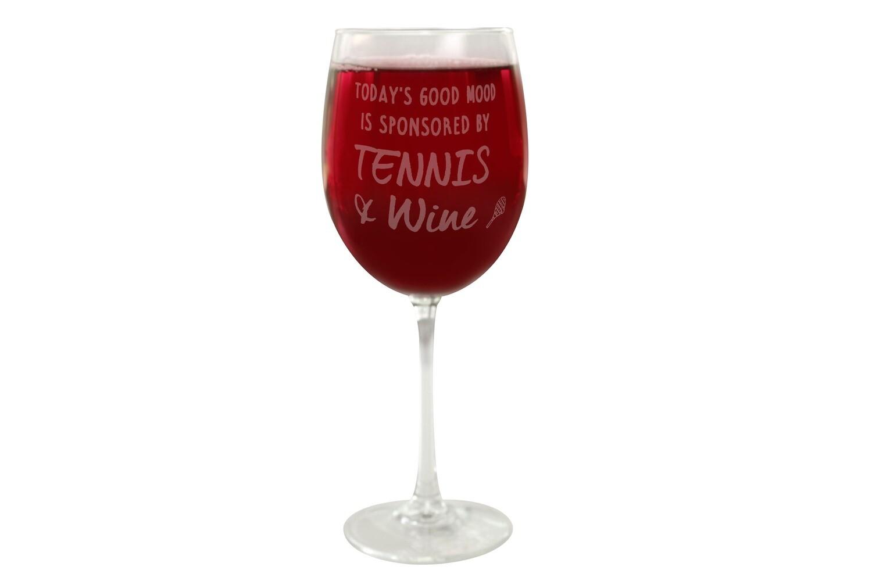 Custom Saying Wine Glass 19 oz