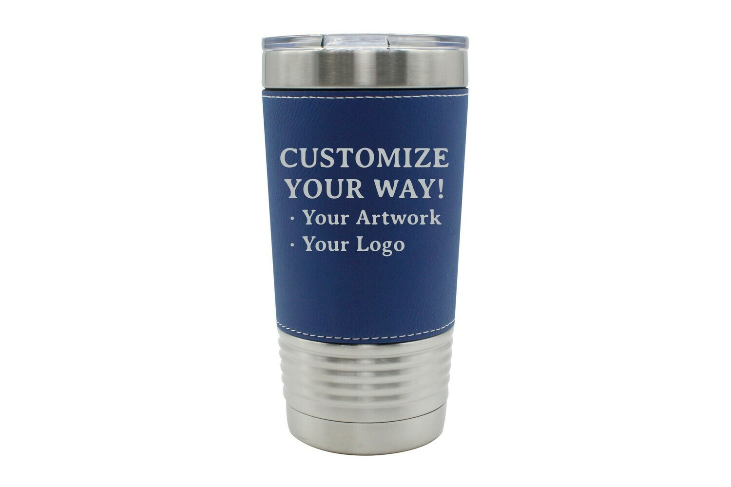 Customize Your Way - 20 oz LEATHERETTE Insulated Tumbler