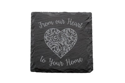 From our Heart to Your Home Slate Coaster Set