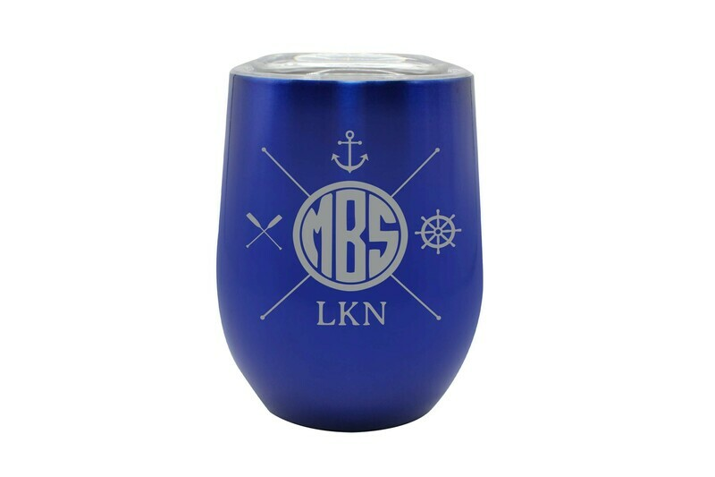 Monogram Insulated Tumbler w/Nautical Themes