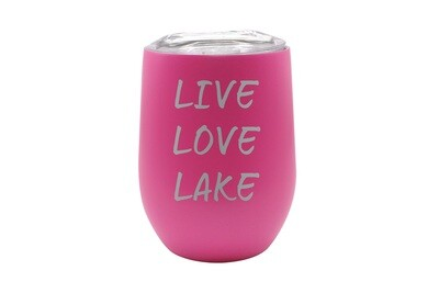 Live Love Lake or Your Custom Words Insulated Tumbler 12 oz