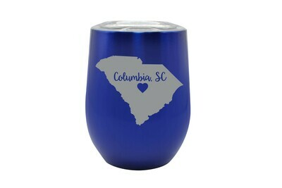 Custom State Shape - Heart Represents City Location Insulated Tumbler