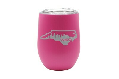Custom State Shape with City Skyline Insulated Tumbler