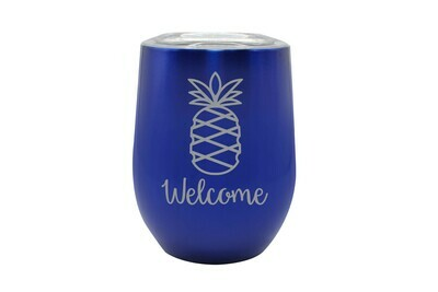 Pineapple w/Welcome or Your Custom Word Insulated Tumbler