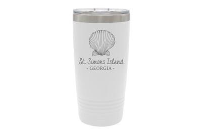 Seashell & Customized Location Insulated Tumbler 20 oz
