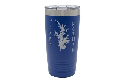 Body of Water & Vertical Customized Location Insulated Tumbler 20 oz
