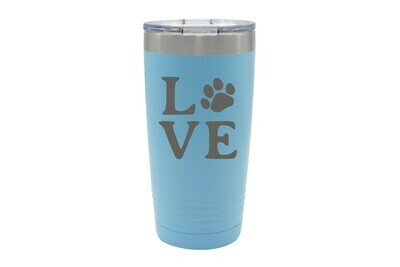 Love Customized with Dog or Cat Print Insulated Tumbler 20 oz
