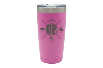 Recreation themes with Customized Location Abbreviation Insulated Tumbler 20 oz