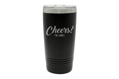 Custom Cheers w/Name Insulated Tumbler 20 oz