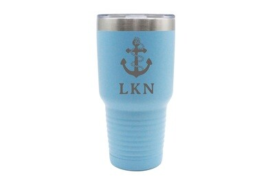 Anchor w/Rope & Customized Location Insulated Tumbler 30 oz