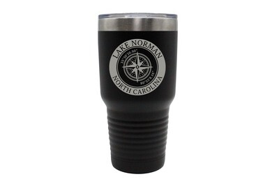 Custom Location with Latitude & Longitude in Circle Insulated Tumbler 30 oz