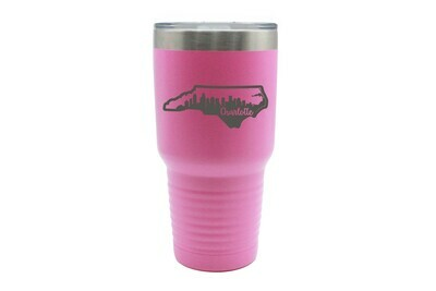 Custom State Shape with City Skyline Insulated Tumbler 30 oz
