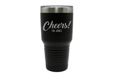 Custom Cheers w/Name Insulated Tumbler 30 oz