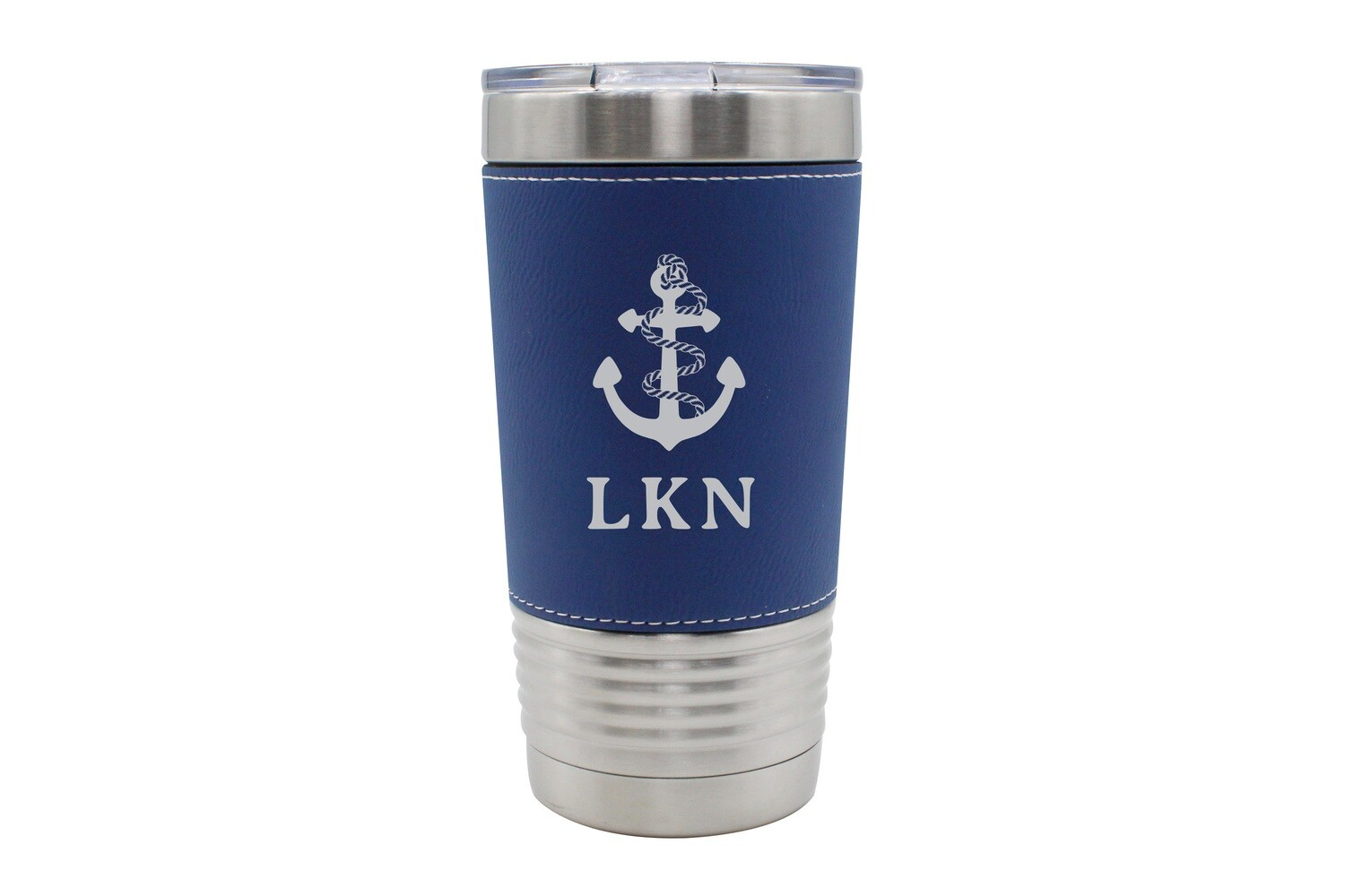Leatherette 20 oz Anchor w/Rope & Customized Location Insulated Tumbler
