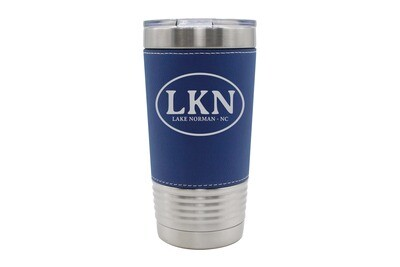 Leatherette 20 oz Custom Insulated Tumbler with Initials or Airport Code