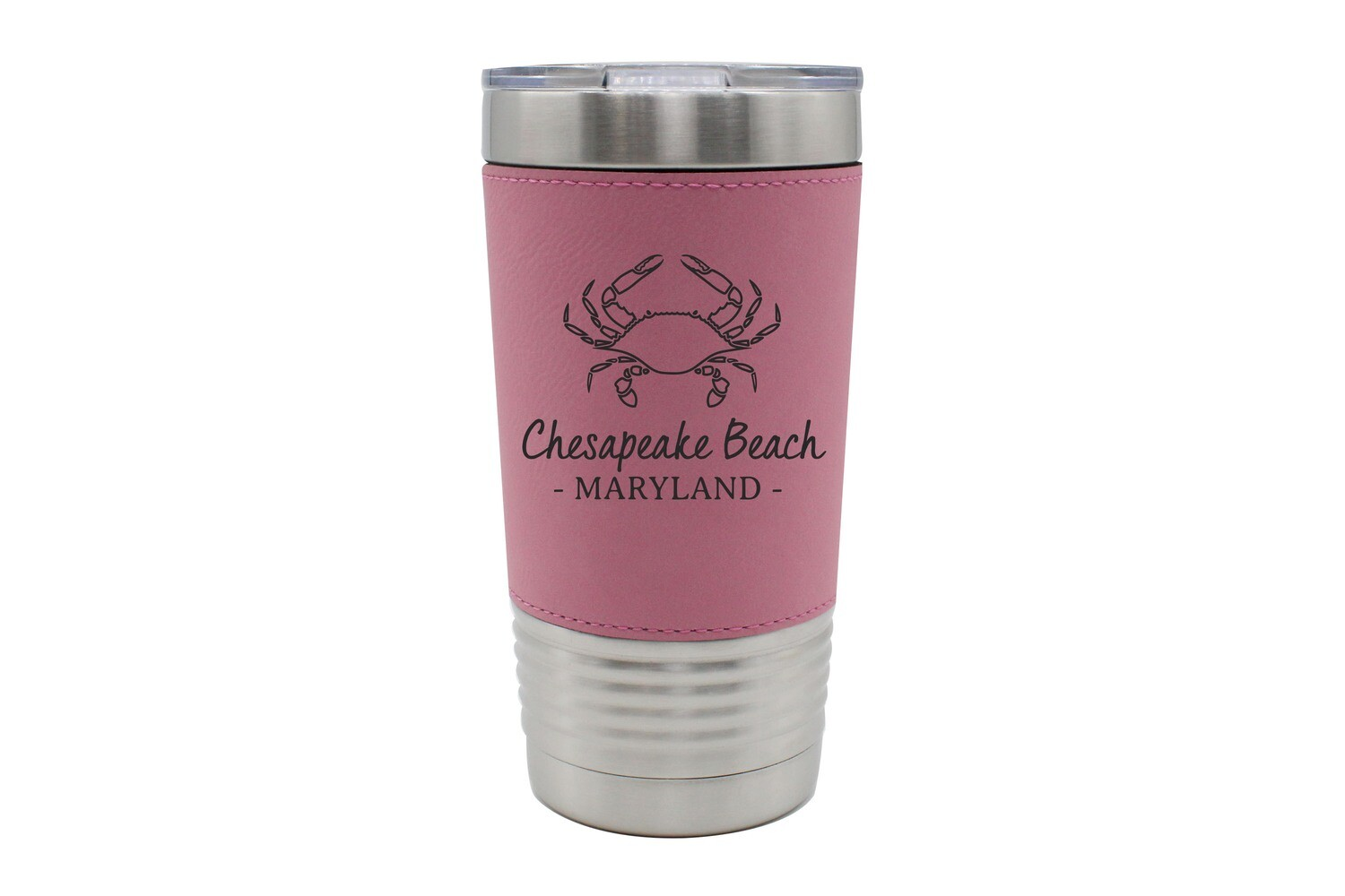 Leatherette 20 oz Crab Outline & Customized Location Insulated Tumbler