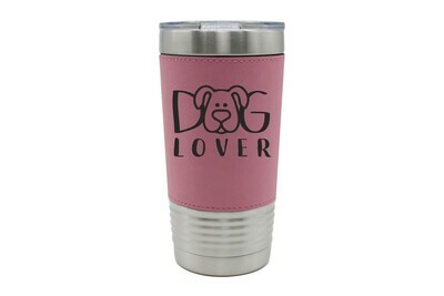 Leatherette 20 oz Customized Dog or Cat Lover Insulated Tumbler