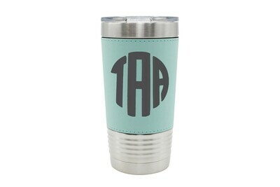 Leatherette 20 oz Monogrammed Insulated Tumbler