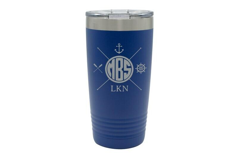Monogrammed with Nautical Themes Travel Mug 20 oz