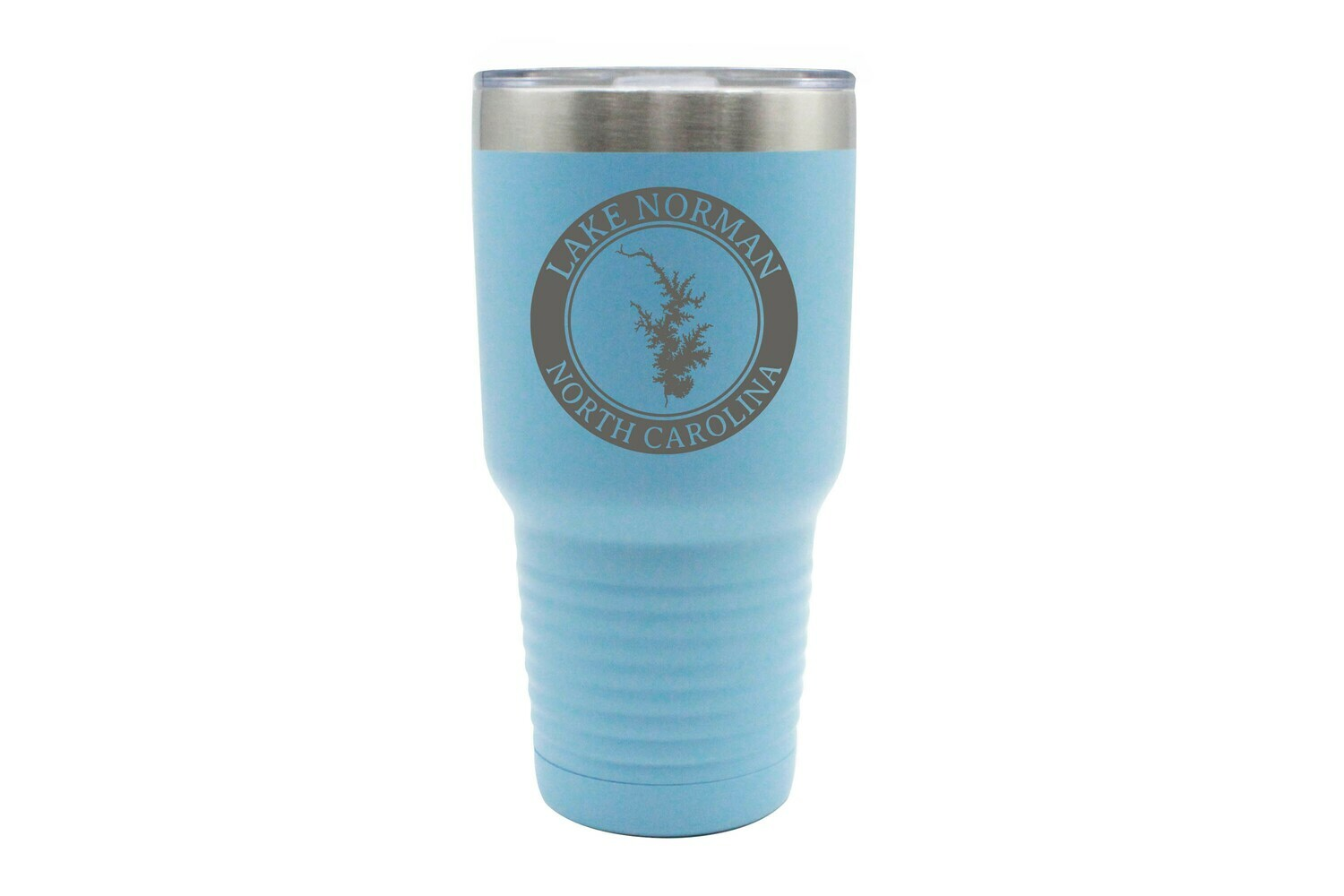Body of Water w/Circle & Customized Location Insulated Tumbler 30 oz