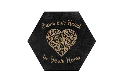 From our Heart to Your Home HEX Hand-Painted Wood Coaster Set
