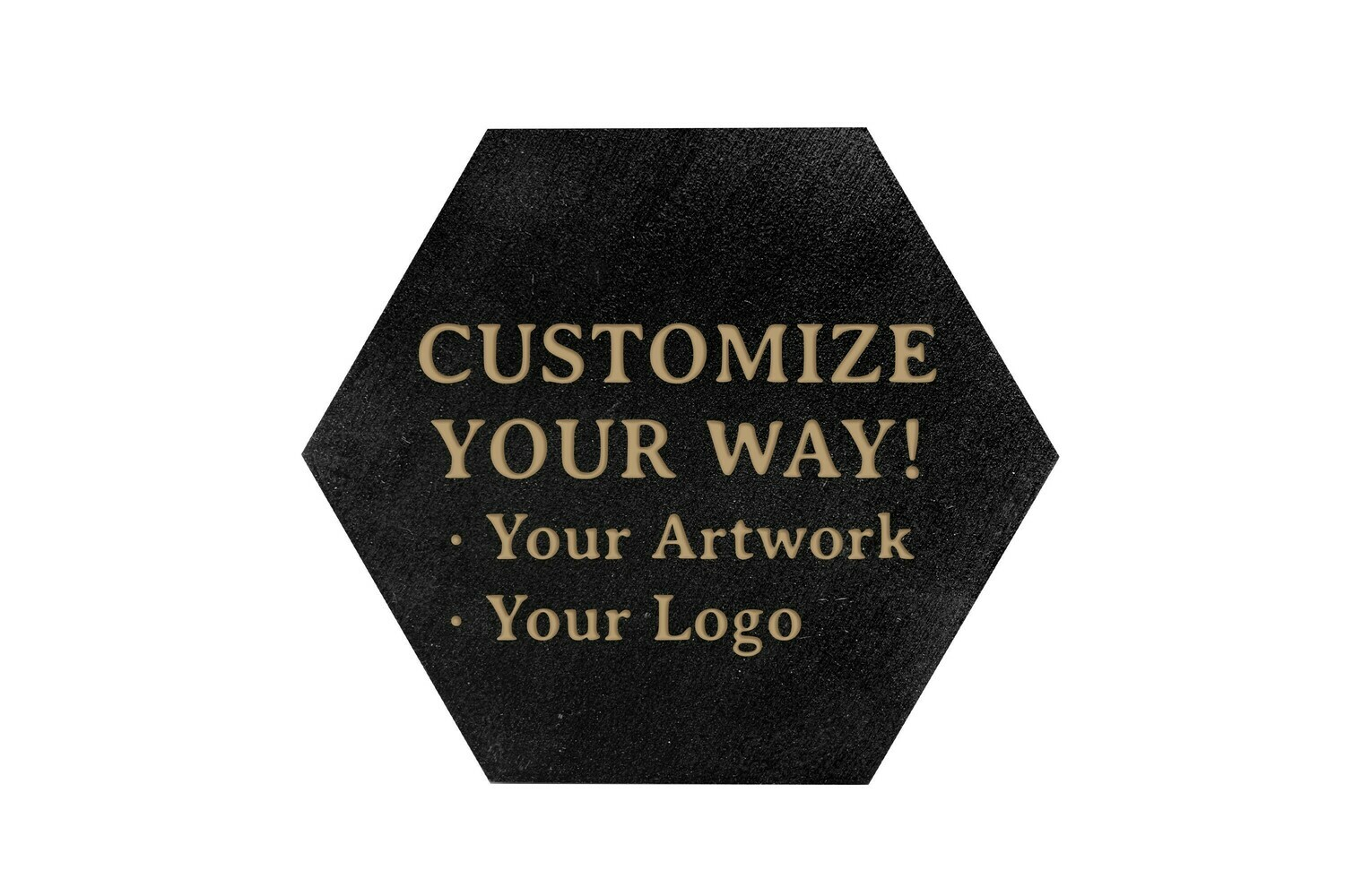 Customize Your Way HEX Hand-Painted Wood Coaster Set