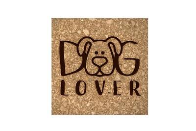 Dog or Cat Lover Image on Cork Coaster Set